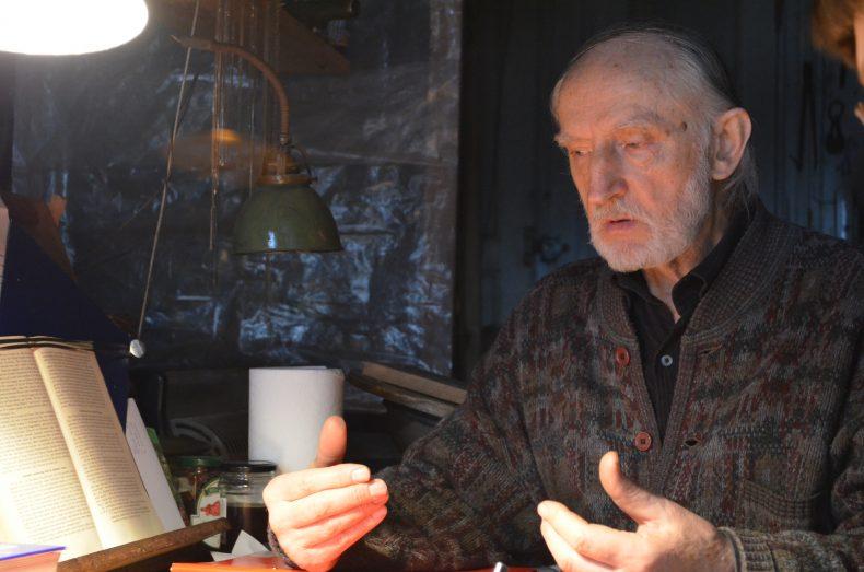 Rozmowa z Ryszardem Korżanowskim w jego pracowni, Szczecin, 2012