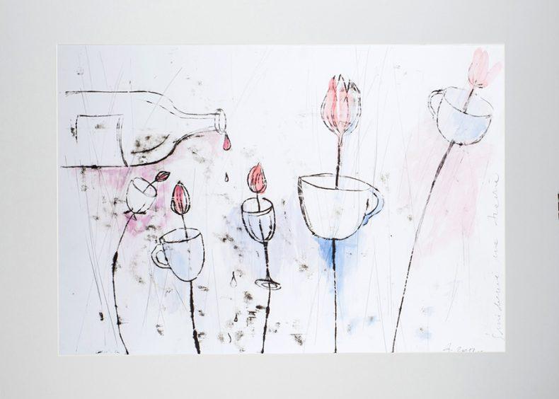 agnieszka-nyklasz-sniadanie-na-trawie-grafika-monotypia-70x50cm