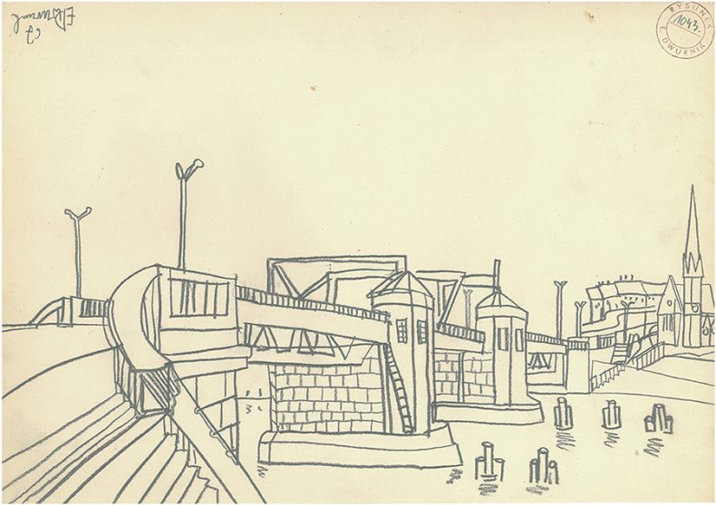 edward-dwurnik-warszawa-cykl-47-szczecin-rysunek-1043-1967-rysunek-olowek-na-papierze-298x42cm