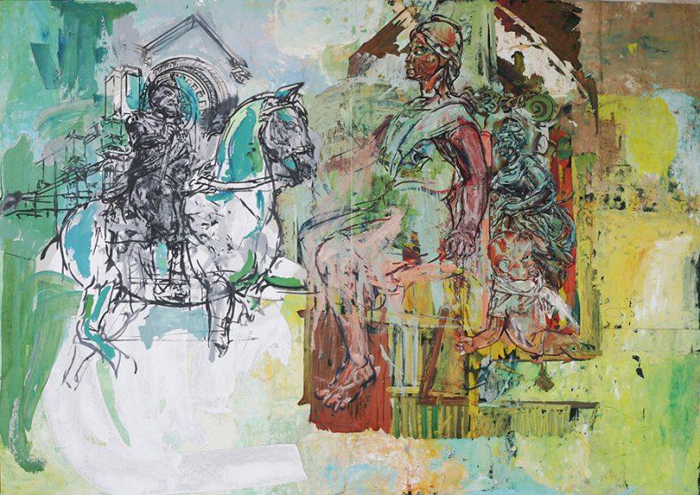 sylwia-godowska-henryk-vi-na-lowach-obraz-temperowy-collage-100x140cm