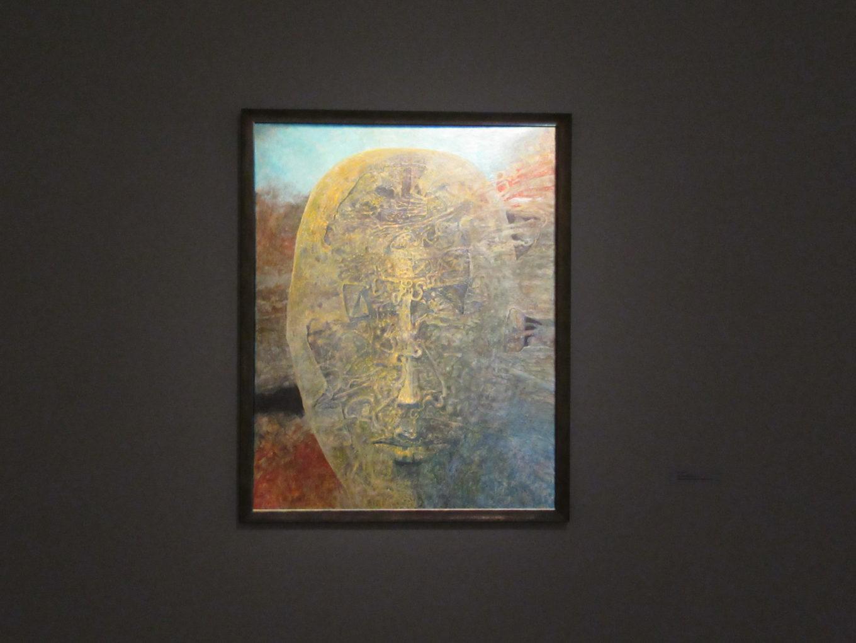 Zdzisław Beksiński i jego ostatni obraz z grudnia 2004 roku, E7, olej na płycie pilśniowej, Kolekcja Muzeum Historycznego w Sanoku
