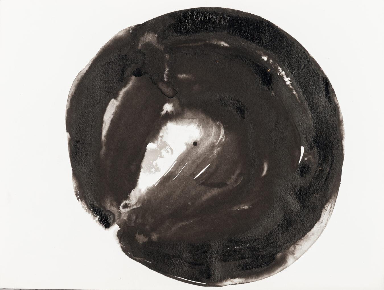 Magdalena Abakanowicz, Z cyklu: Oko, 2006, rysunek tuszem chińskim, 31 x 23 cm, niesygnowany. Dar Pana Jana Kosmowskiego.
