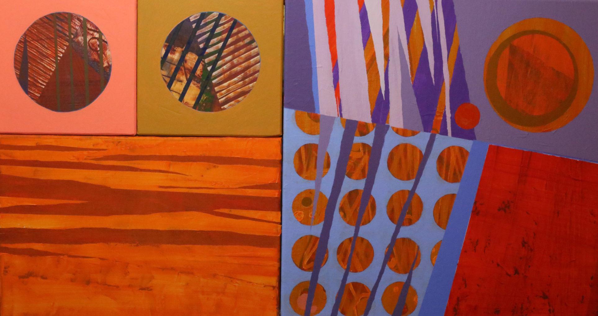Aleksandra Jadczuk, Daydreamig, 2019, akryl na płótnie,,70x130cm
