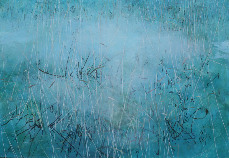 Izabela Kita, Z cyklu Widoki zanurzone (X), 2017, akryl na płótnie, 100x150 cm