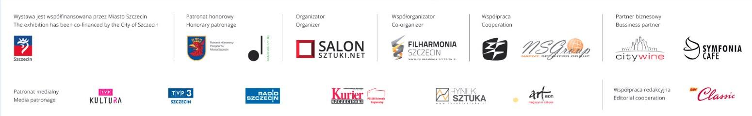 Organizator składa serdeczne podziękowania artystom, dziennikarzom, miłośnikom sztuki i partnerom biznesowym, którzy udzielili wsparcia przy organizacji wystawy Zoom na Szczecin II Barwne konstelacje świata.