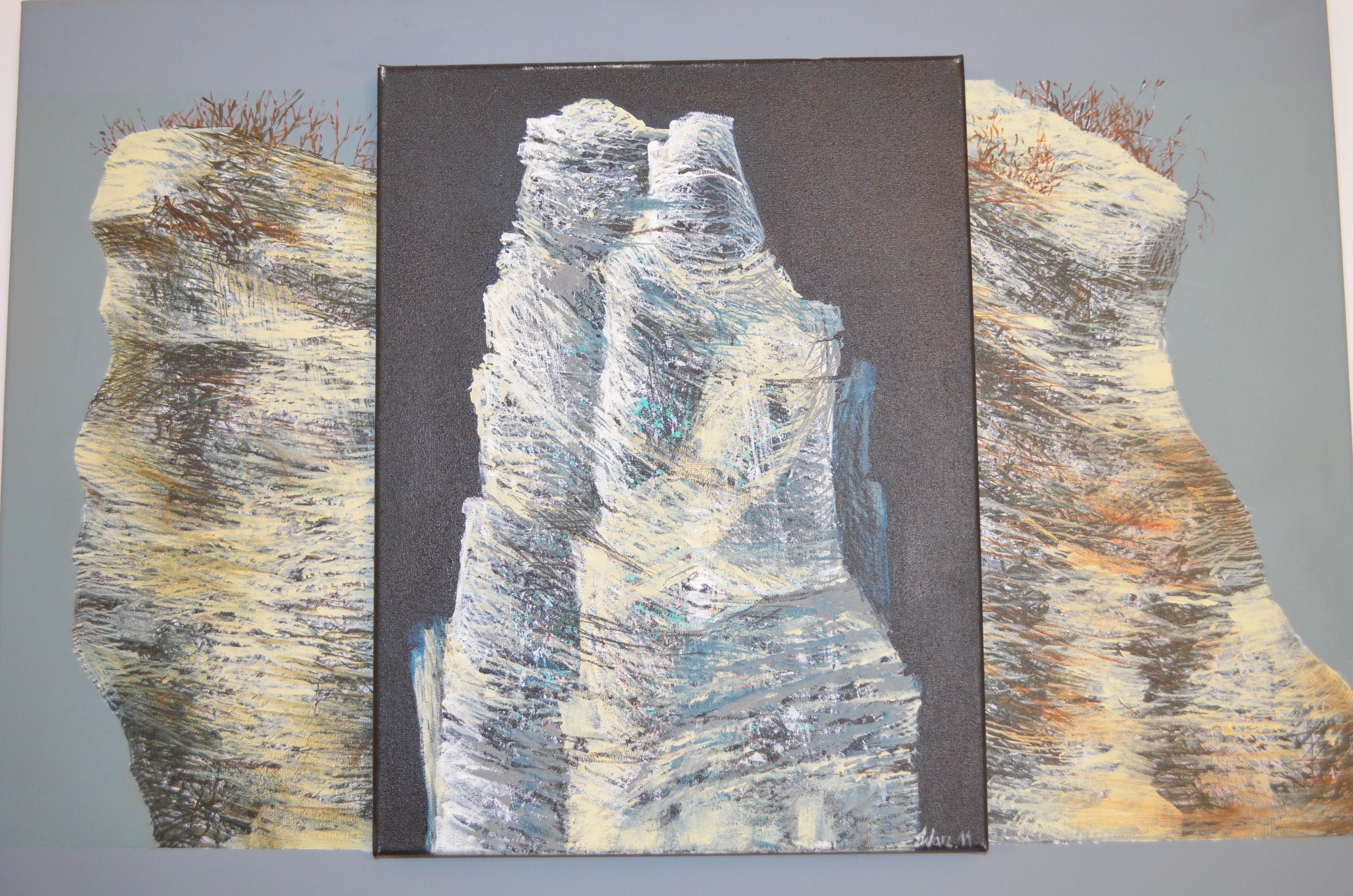 Barbara Warzeńska, Ostaniec I, 2011, akryl na płótnie, 50 x 70 cm