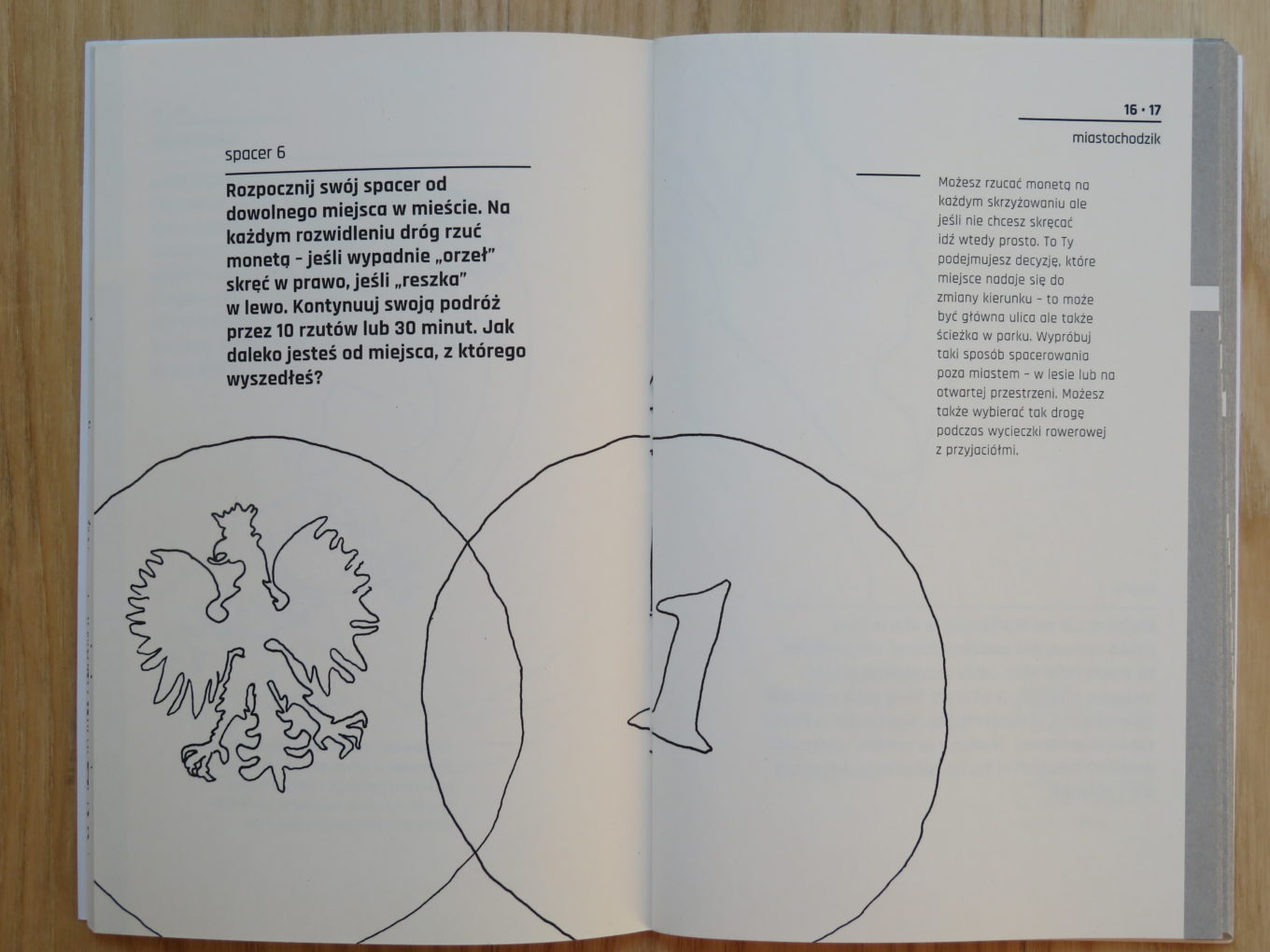 """Instrukcja do spaceru nr 6 z książeczki dr. Pawła Kuli """"miastochodzik. Spacery miejskie"""",2018"""