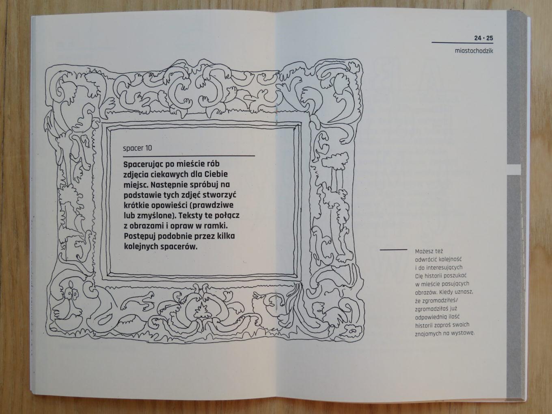"""Instrukcja do spaceru nr 10 z książeczki dr. Pawła Kuli """"miastochodzik. Spacery miejskie"""",2018"""