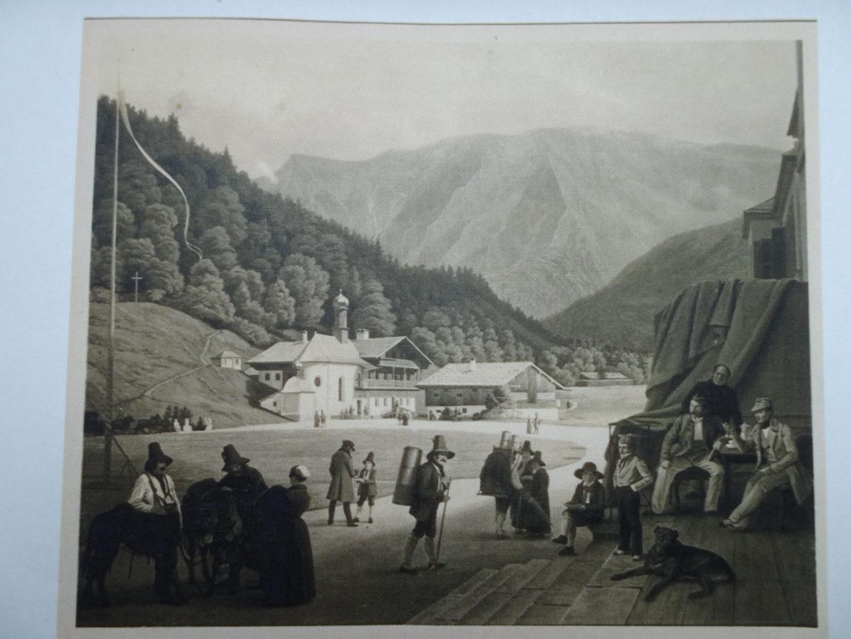Wspomnienie z Kreuth, 1841, olej na płótnie, wymiary nieznane, zdjęcie archiwalne, Katalog dzieł L. Mosta, opr. P.P. Most, Hanower 1937, s. 11a