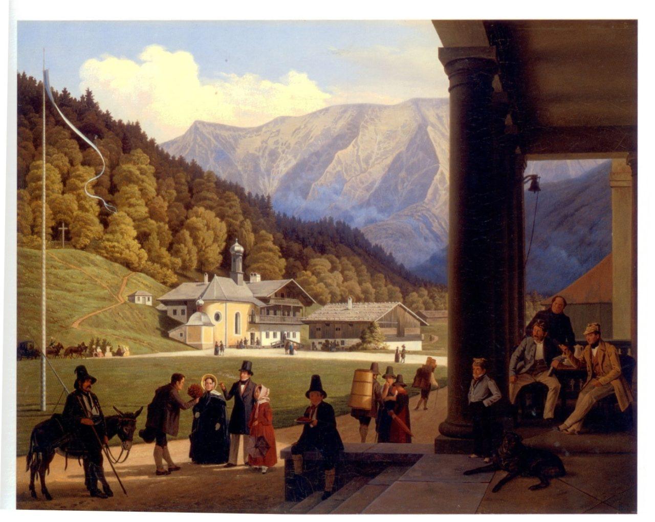 Wspomnienie z Kreuth, 1841, olej na płótnie, wymiary 63,5 x 79,7 cm, Christie's, London, 19th Century European art., 16.11.2006, s. 37, poz. kat. 24.