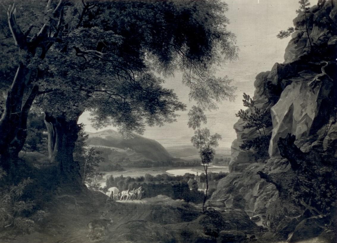 Most, Pejzaż z Nadłabskich Gór Piaskowcowych, 1833, olej na płótnie, fotografia w katalogu Petera Paula Mosta, Die Bilder des Malers Ludwig Most, Hannover 1937, nr 31, s. 7a