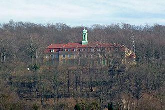 Widok zamku Wachwitz w otoczeniu parkowym, https://de.wikipedia.org/wiki/Wachwitz– dostęp 25.11.2019