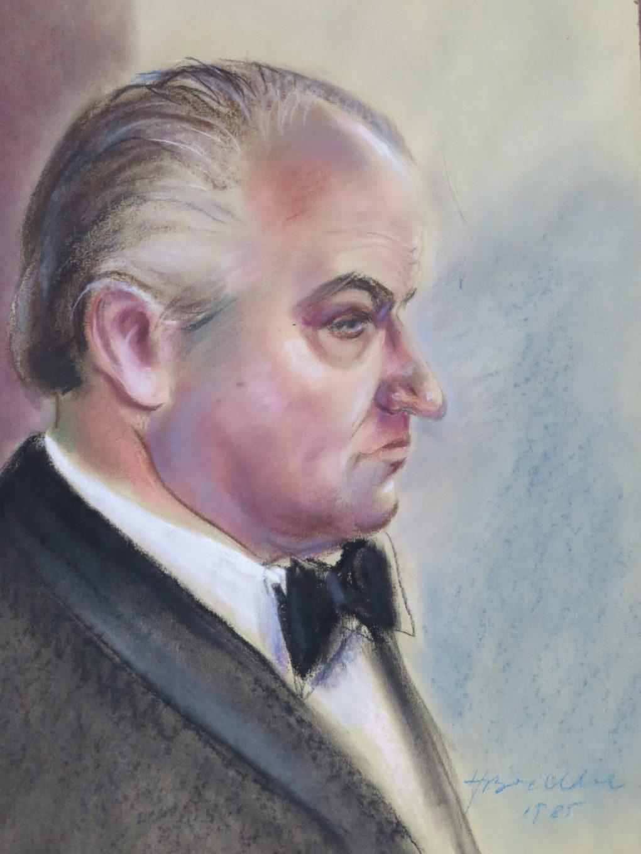 Henryk Boehlke, Portret Waleriana Pawłowskiego, 1985, pastel na kartonie