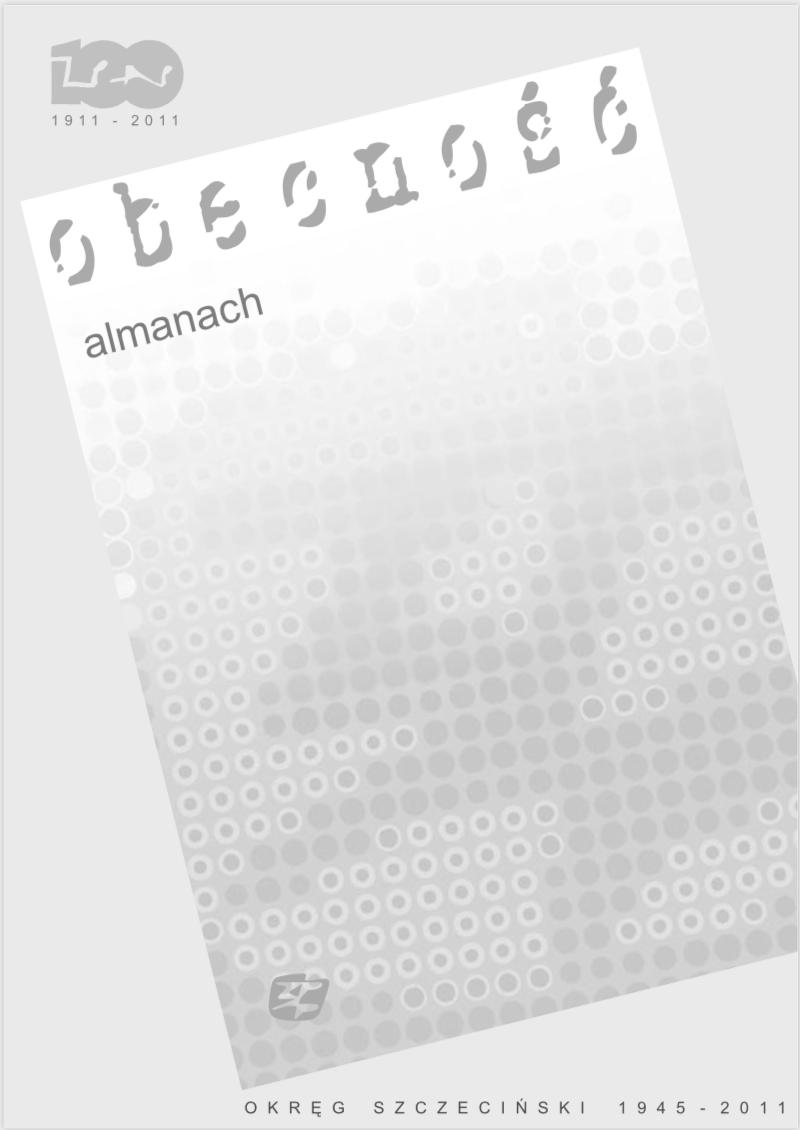 Okładka almanachu Obecność, 2011, ZPAP O/ Szczecin