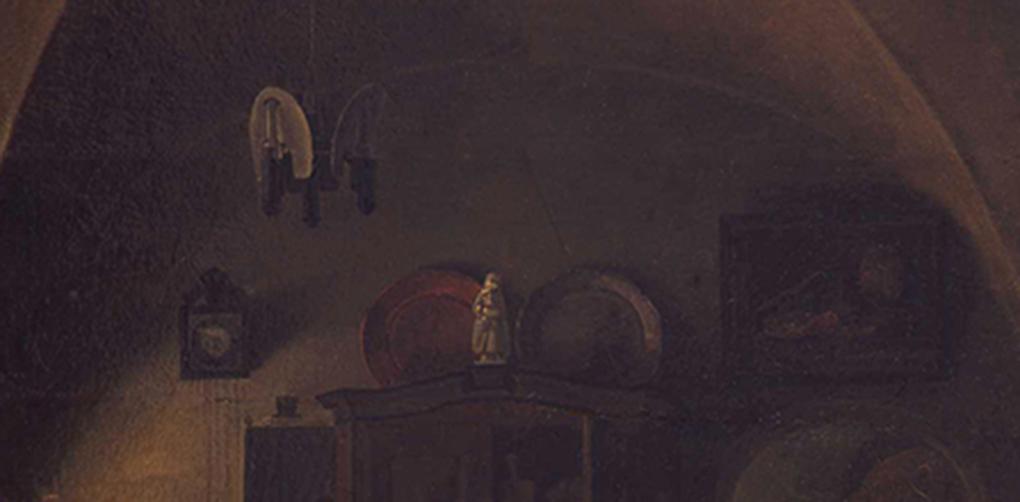 Ludwig Most, Holenderska martwa natura stołowa, fragment obrazu Czeska karczma, 1834, olej na płótnie, Muzeum Narodowe w Szczecinie, fot. Grzegorz Solecki & Arkadiusz Piętak