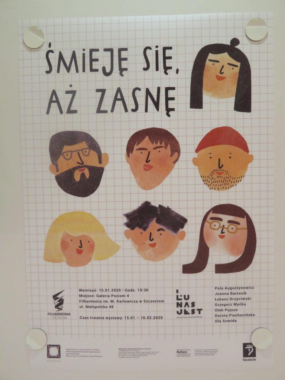 Plakat Kolektywu ILU NAS JEST 1.501.2020 w Filharmonii im. Mieczysława Karłowicza w Szczecinie