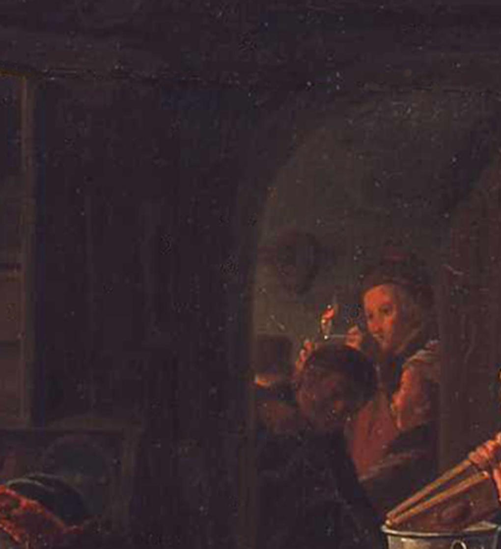Ludwig Most, Widok przez uchylone drzwi, fragment obrazu Czeska karczma, 1834, olej na płótnie, Muzeum Narodowe w Szczecinie, fot. Grzegorz Solecki&Arkadiusz Piętak