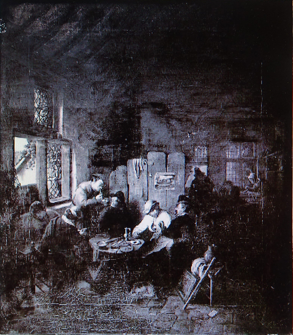 Adriaen van Ostade, Karczma chłopska, nie datowany, olej, ilustracja w: Peter Paul Most, Die Bilder des Malers Ludwig Most, Hannover 1937, s. 29, kat. 232