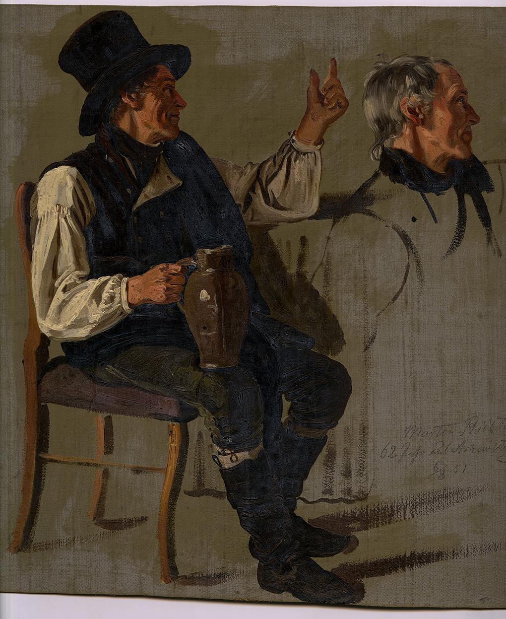 Ludwig Most, Portret Martina Richtera, studium, olej na płótnie, 1851, Muzeum Narodowe w Szczecinie