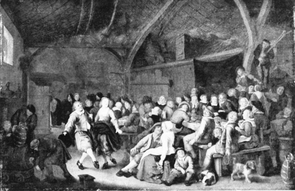 Jan Miense Molenaer, Wiejska karczma, 1659, olej na desce, ilustracja w: Die Gemäldegalerie des Kaiser-Friedrich-Museum, Bearb. H. Posse, Berlin 1911, s. 259, nr kat. 949