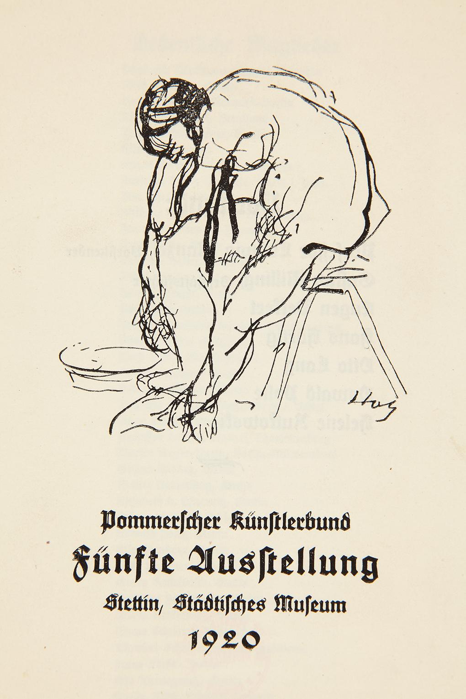 Paul Holz, okładka katalogu wystawy czasowej Pommersche Künstlerbund z 1920 roku, druk na papierze maszynowym, Muzeum Narodowe w Szczecinie, fot. Grzegorz Solecki&Arkadiusz Piętak