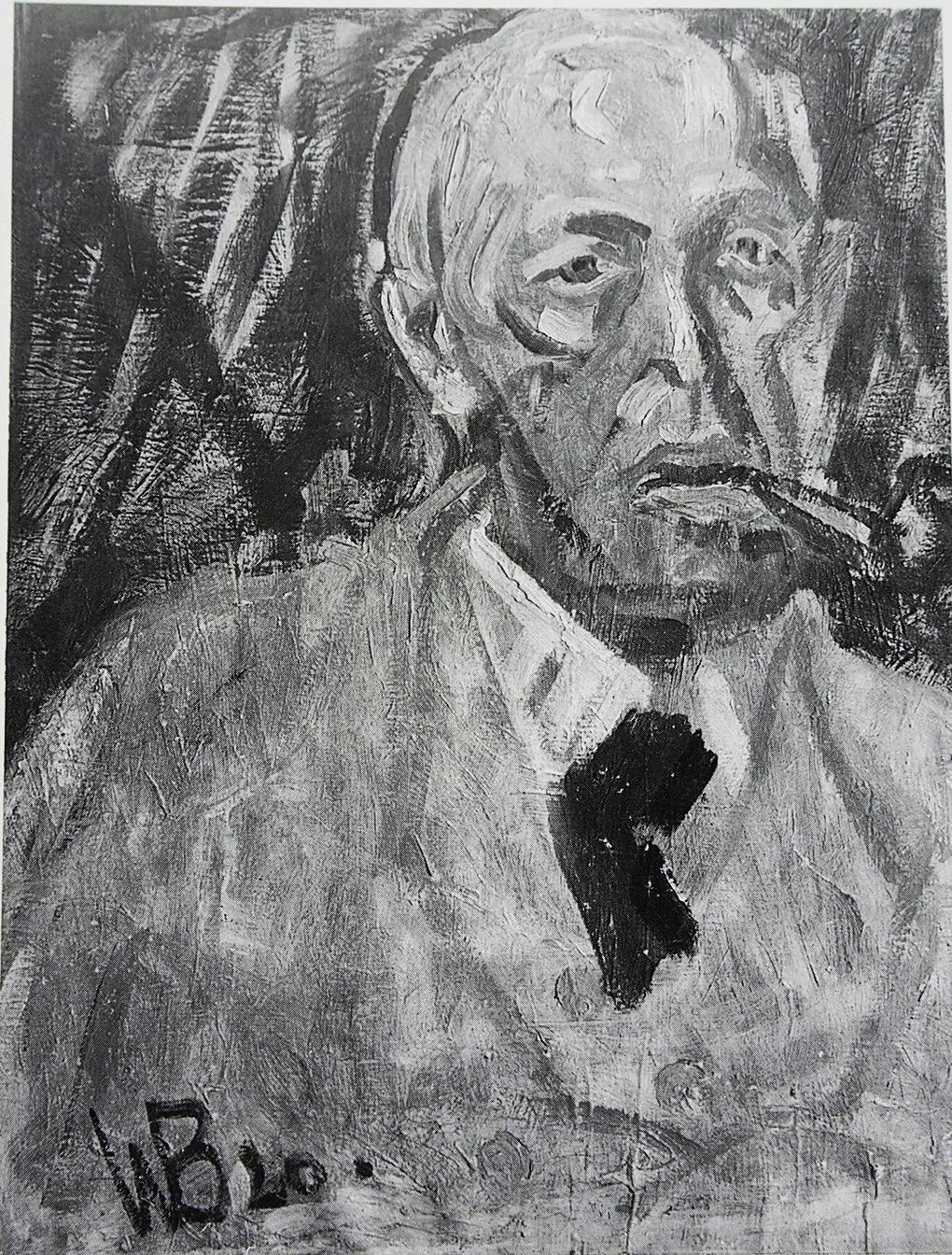 Wilhelm Bormes, Portret Paula Holza, olej na płótnie, 1920, reprodukcja w: Angelika Förster, Paul Holz Zeichner, Rostock 1998, s. 35.