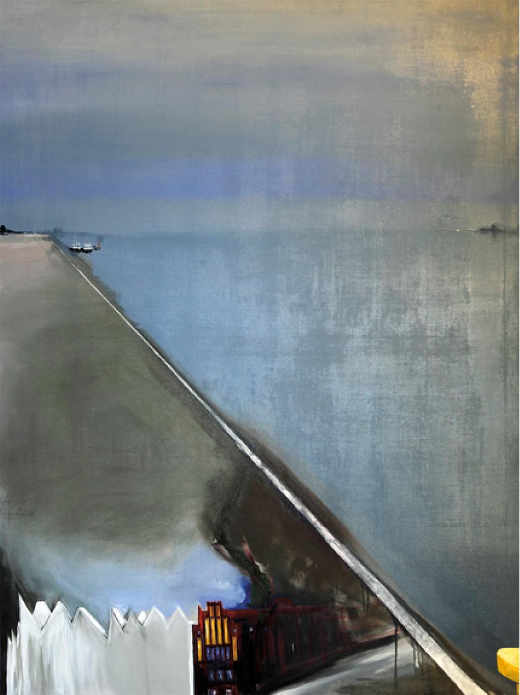 Andrzej Zwierzchowski (ur. / geb. / born 1954, Warszawa / Warschau / Warsaw), Przestrzenie / Räume / Spaces, 2016, olej, płótno / Öl, Leinwand / oil, canvas, 150 × 200 cm, Galeria SalonSztuki.net / Kunstgalerie SalonSztuki.net / art gallery SalonSztuki.net
