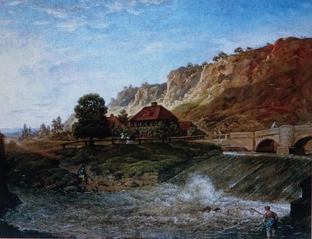Anton Graff, Plauensche Grund koło Drezna wieczorem, około 1800, obraz olejny, reprodukcja w: https://www.bimago.pl/reprodukcje/anton-graff/der-plauensche-grund-bei-dresden-am-abend-110267.html