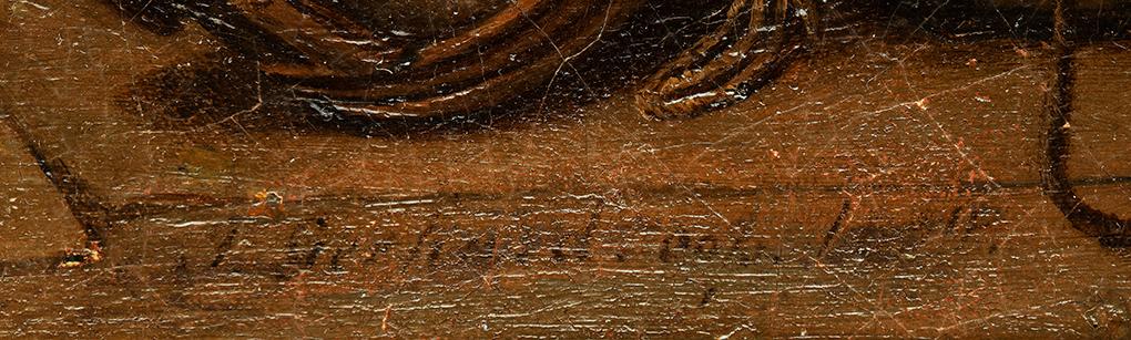Theodor Gerhard, kopia według Ludwiga Mosta, Scena w karczmie, 1831, olej na płótnie, sygnatura Gerharda, własność Antykwariat Marek Wyłupek, Szczecin