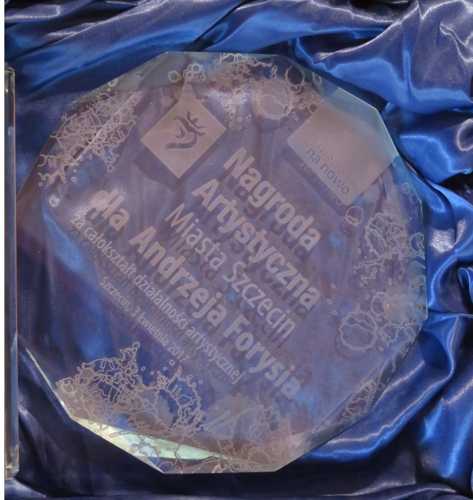 Nagrody Artystycznej Miasta Szczecina dla Andrzeja Forysia,2016. Z archiwum artysty