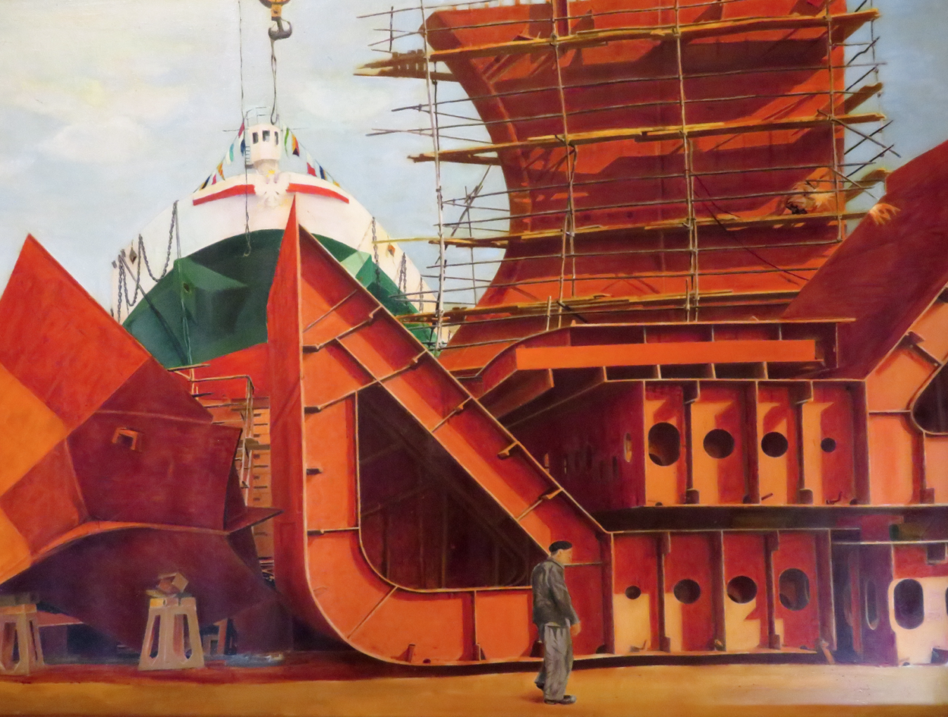 Andrzej Foryś, Z cyklu Dziennik budowy statków, jeden z charakterystycznych obrazów artysty
