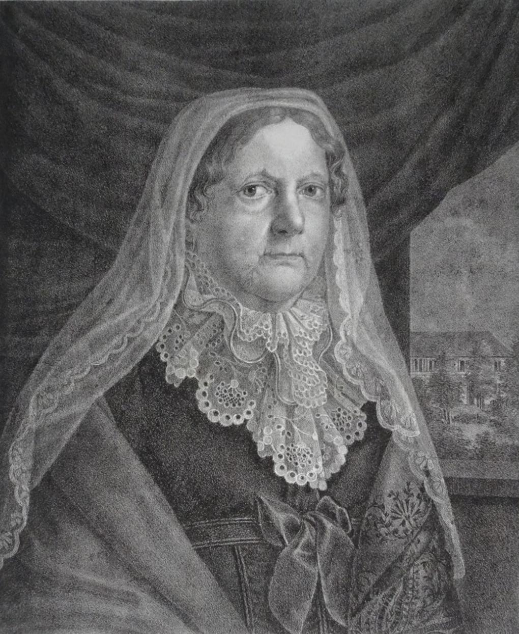 Ludwig Most, Elizabeth Christine Ulrike Prinzessin von Preussen, 1827, litografia, papier welinowy, Muzeum Narodowe w Szczecinie