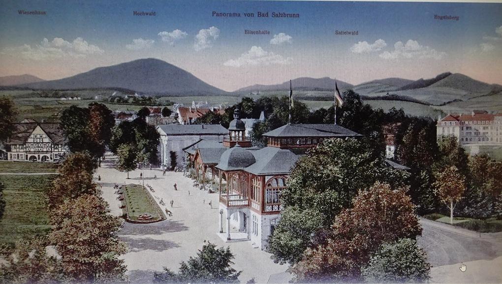 Panorama Szczawna i okolicy, pocztówka barwna, początek XX wieku, https://m.facebook.com/101609395002578/photos/a.101612725002245/336553884841460/?type=3&source=44 dostęp 23.08.2021
