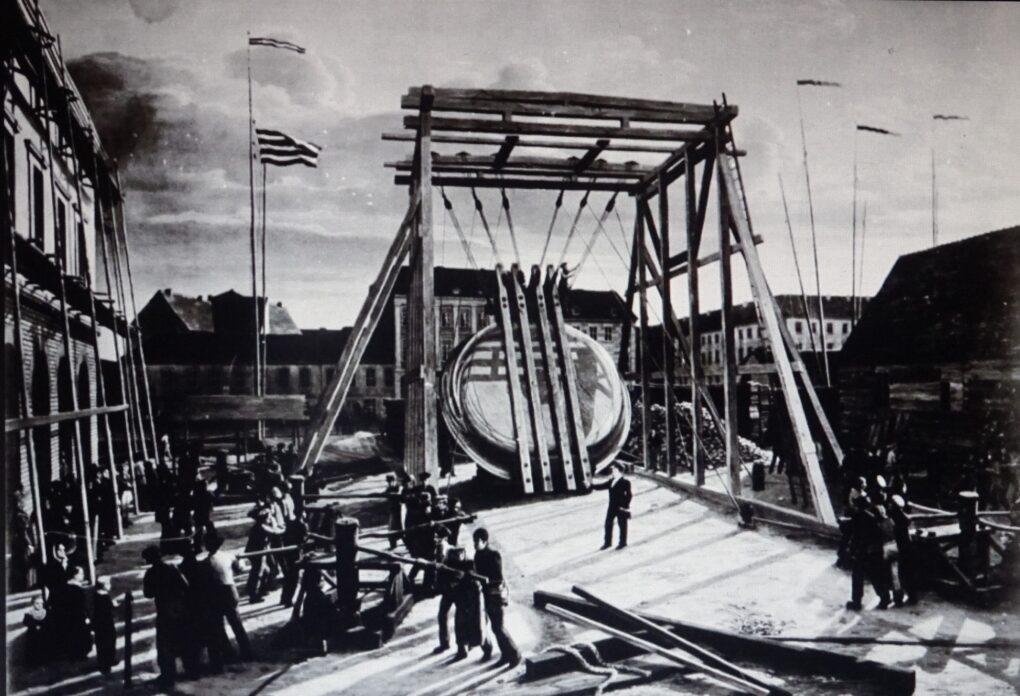 Johann Erdmann Hummel, Transport misy przez Grünstrassenbrücke w Berlinie, 1828, olej na płótnie,(https:/www.bing.com/images/search?view=detailV2&ccid=ZKZdL2xl&id=7EE76… dostęp 30.09.2021)