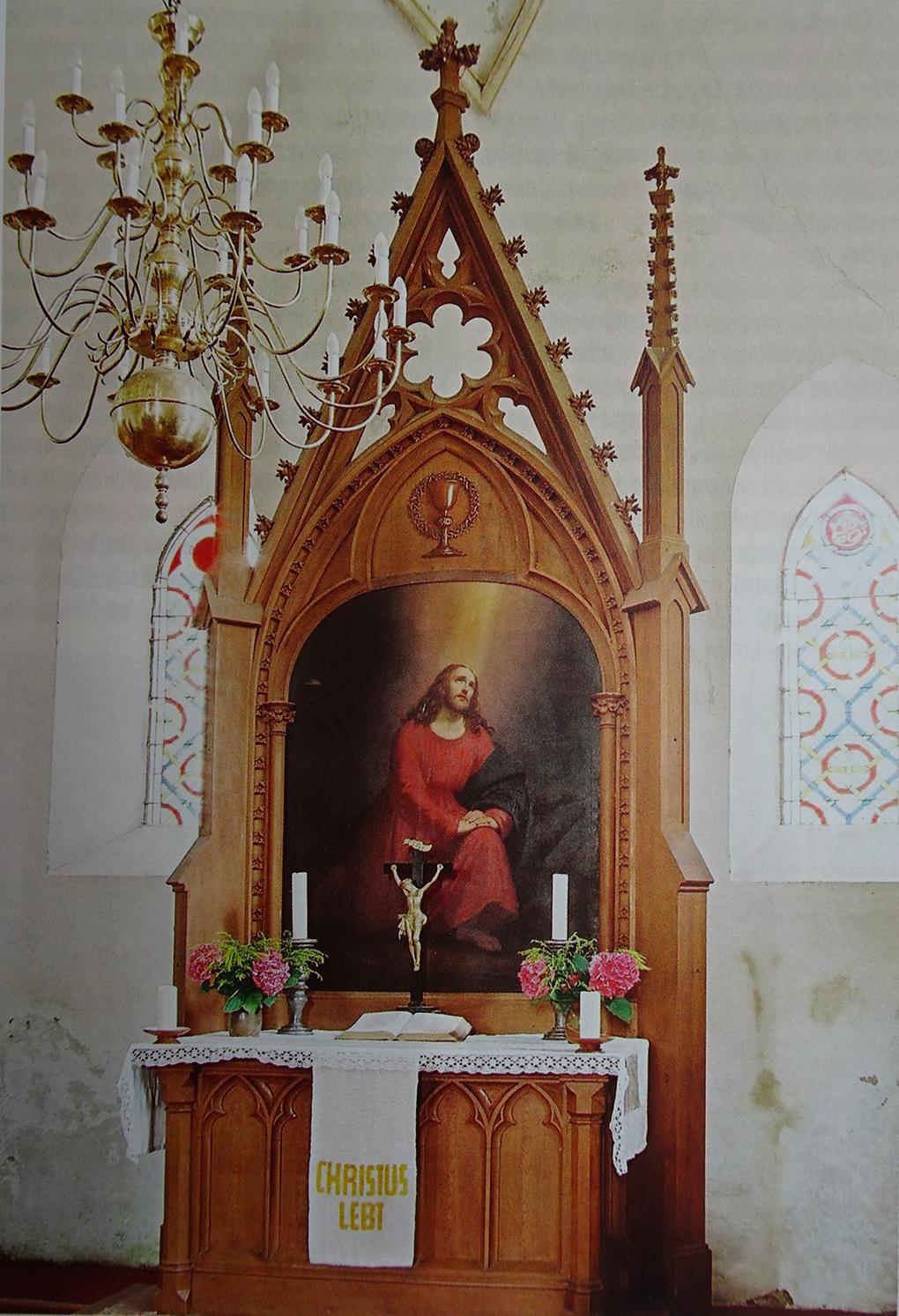 Ludwig Most, Jezus w Ogrodzie Oliwnym, 1868, obraz olejny, kościół w Kartlow, fot. Reinhard Kuhl, reprodukcja w: Pommern. Zeitschrift für Kultur und Geschichte, nr 2/2009, s. 24